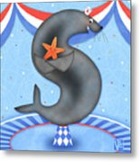 S Is For Seal And Starfish Metal Print