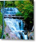 Sable Falls At Pictured Rocks National Lakeshore Trail, Michigan  Metal Print