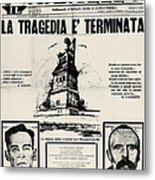 Sacco And Vanzetti Front Page Metal Print