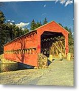 Sachs Covered Bridge Square Metal Print