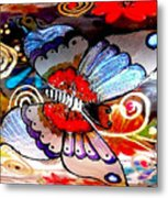 Sackettdoodles Butterfly Metal Print