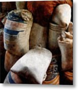 Sacks Of Feed Metal Print
