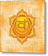 Sacral Chakra - Awareness Metal Print
