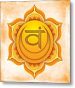 Sacral Chakra Metal Print by David Weingaertner