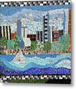 Sacramento City Skyline Mosaic Metal Print
