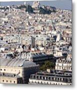 Sacre Coeur At The Summit Of Montmartre Paris Metal Print