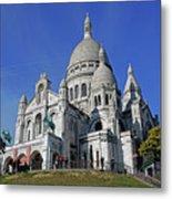 Sacre Coeur In The Montmartre Area Of Paris, France  Metal Print