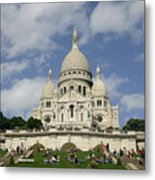 Sacre Coeur  Paris France Metal Print