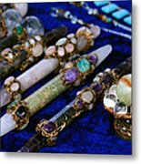 Sacred Gemstones Energy Amulets Crystal Balls Magic Wands Metal Print
