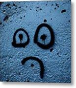 Sad Graffiti Metal Print
