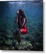 Sad Mermaid Metal Print