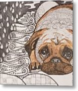 Sad Pup Metal Print