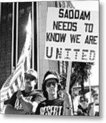 Saddam Needs To Know Pro Desert Storm Rally Tucson Arizona 1991 Metal Print