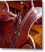 Saddle In Tack Room Metal Print