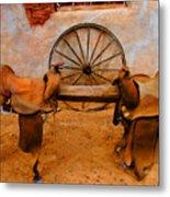 Saddle Town Metal Print