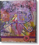 Safe To Be Soft And Strong Metal Print