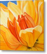 Saffron Splendour Metal Print