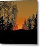 Saffron Sunset Metal Print
