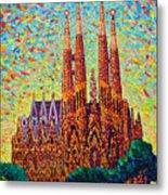 Sagrada Familia Barcelona Spain Metal Print