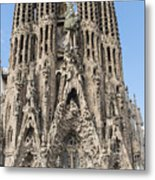 Sagrada Familia - Gaudi Designed - Barcelona Spain Metal Print