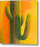 Saguaro In Summer Metal Print