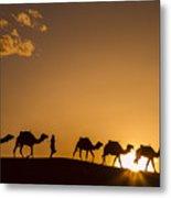 Sahara Desert Sunset Metal Print