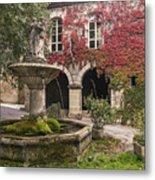 Saignon Fountain Provence  Metal Print