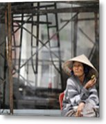 Saigon Lady Metal Print