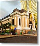 Saigon's Opera House Vietnam Metal Print