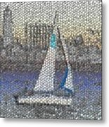 Sail At Sunset Metal Print