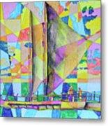 Sail Away Sunset Metal Print