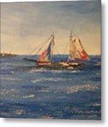 Sail boat in Charleston Metal Print