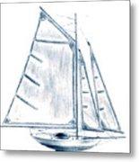 Sail Boat Metal Print