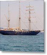 Sail Boat Near Galapagos Islands On Pacific Ocean Metal Print