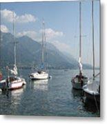 Sail Boats, Lake Como, Italy Metal Print