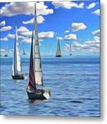 Sail Day Metal Print