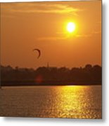 Sail In The Sunset Metal Print