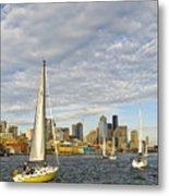 Sail On Seattle Metal Print