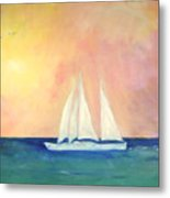 Sailboat - Regatta Of One Metal Print