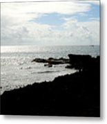 Sailboat At Point Metal Print