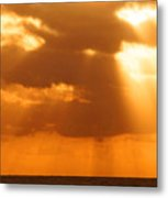 Sailboat Bathed In Hazy Rays Metal Print