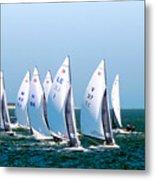 Sailboat Championship Regatta Metal Print