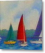 Sailboat Fiesta II Metal Print