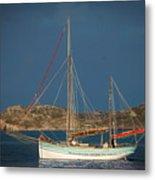Sailboat In Iona Bay Metal Print