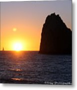 Sailboat In The Sunset Cabo San Lucas Mexico Metal Print