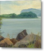 Sailboat Near Croton Landing Metal Print