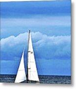 Sailboat No. 143-1 Metal Print