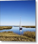 Sailboat On Cape Cod Bay Metal Print