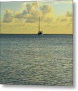 Sailboat On The Horizon Metal Print