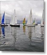 Sailboat Race Seattle Metal Print